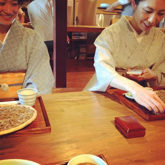 おデート相手と おそば♪ #着物 #kimono #岩瀬お散歩