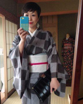 素敵な空間の しゅっーとした方達の中にいくので せーいっぱいしゅっとしたコーデにしてみたの巻 kimono riot 行ってきます❤ おっと、ちょいとしたパーティーあったね!! #富山#魚津#金沢#きもの#kimonoriot#こゆき庵#きものコーデでのあるある一言、ちょいとしたパーティーにも行けますよ、どこにあるかと思ったら❤あったね(笑)